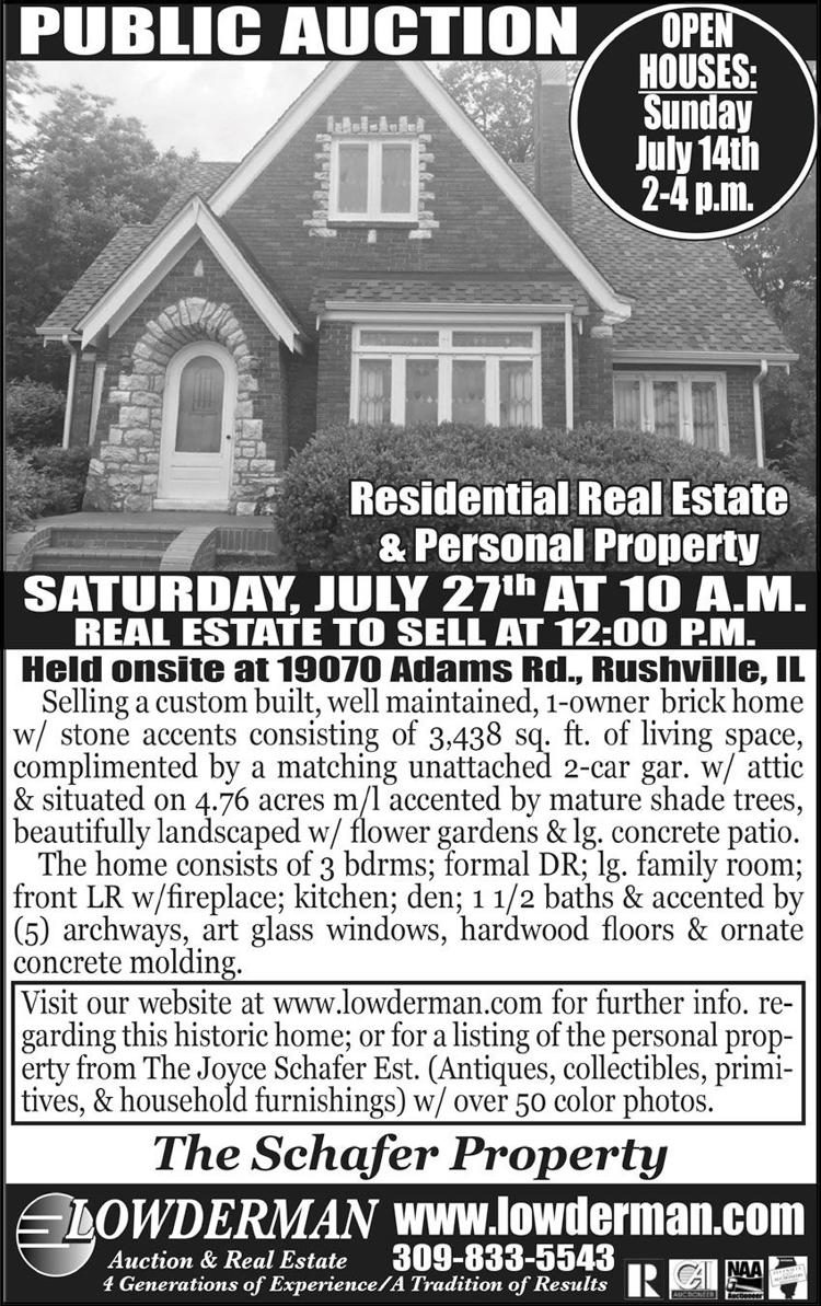 Real Estate Auction & personal property