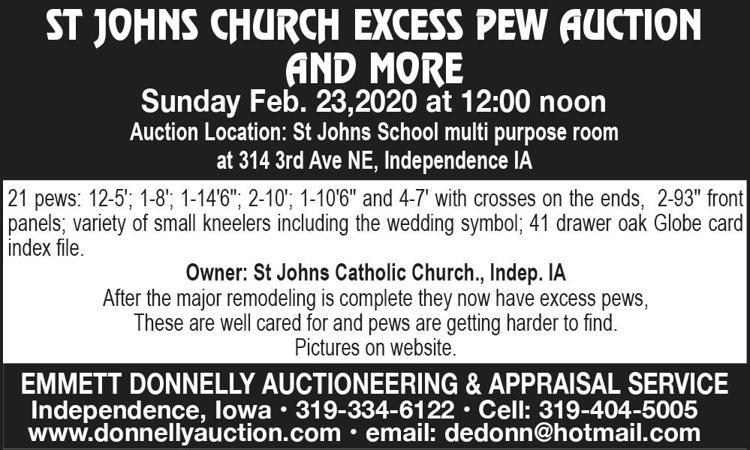 Pews, small kneelers, wedding symbol, globe card index file