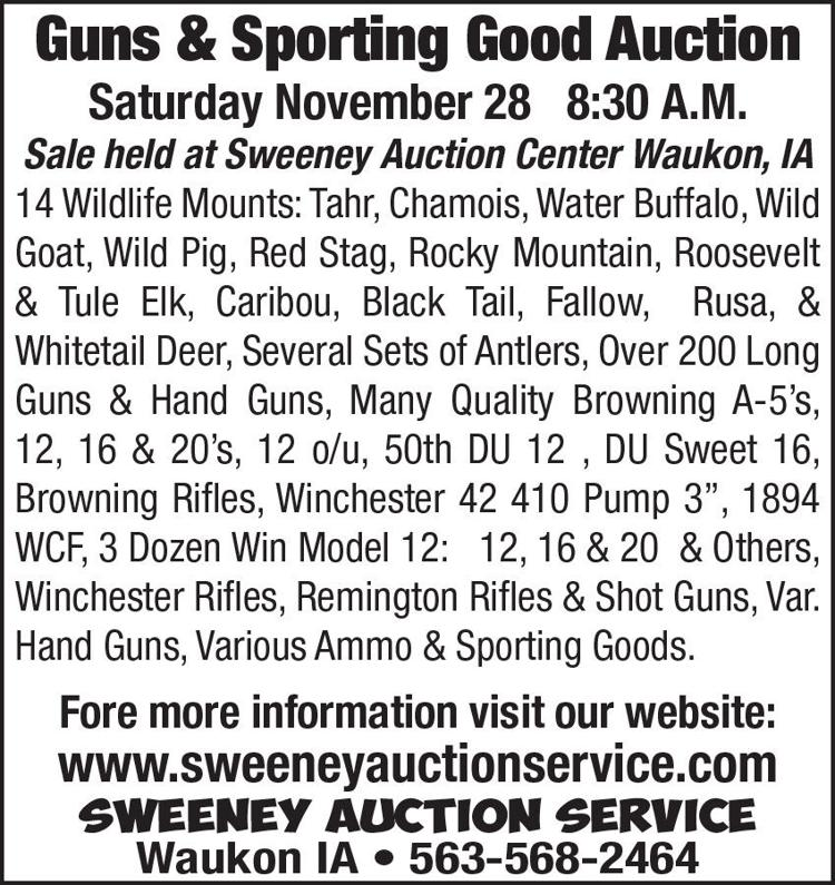 Guns & Sporting Good Auction, Wildlife Mounts, Over 200 Long Guns and Hand guns, and Various Ammo & Sporting Goods