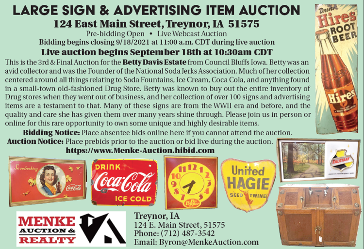 Menke auction