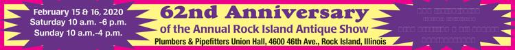 62nd Anniversary of the Annual Rock Island Antique Show