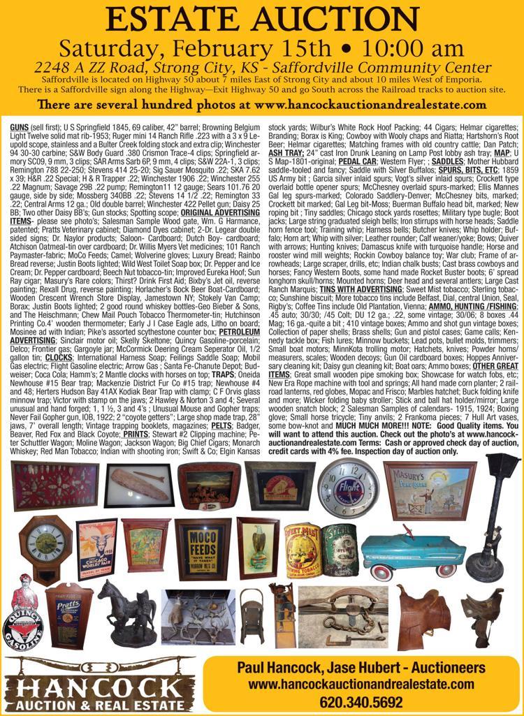 Estate Auction, guns, advertising items, ammo