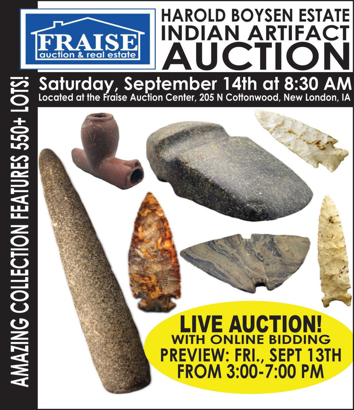 Indian Artifact Auction, 550+ lots
