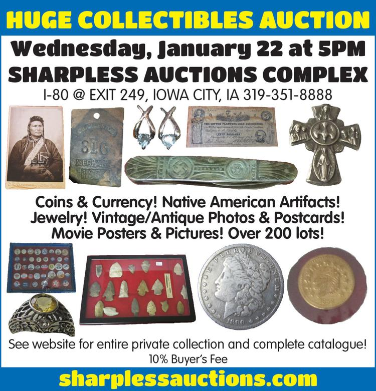 Coins, currency, native american artifacts