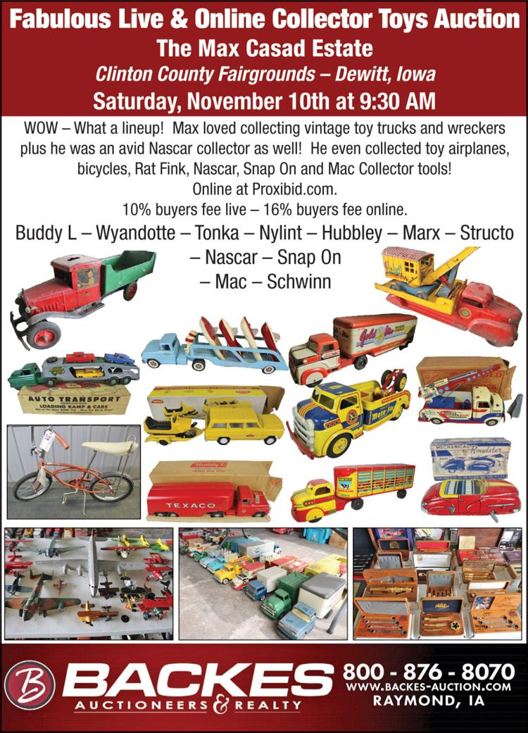Toy trucks & wreckers, Nascar, toy airplanes, bicycles