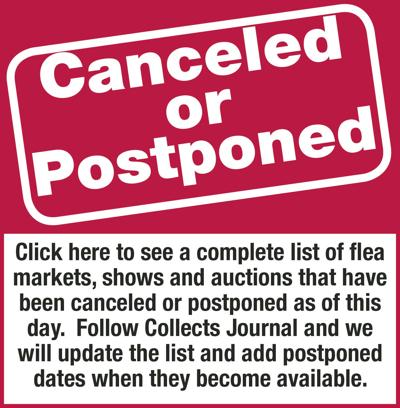 Canceled and postpones shows, events and auctions