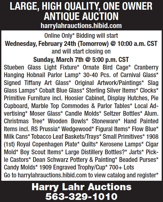 Harry Lahr Auction