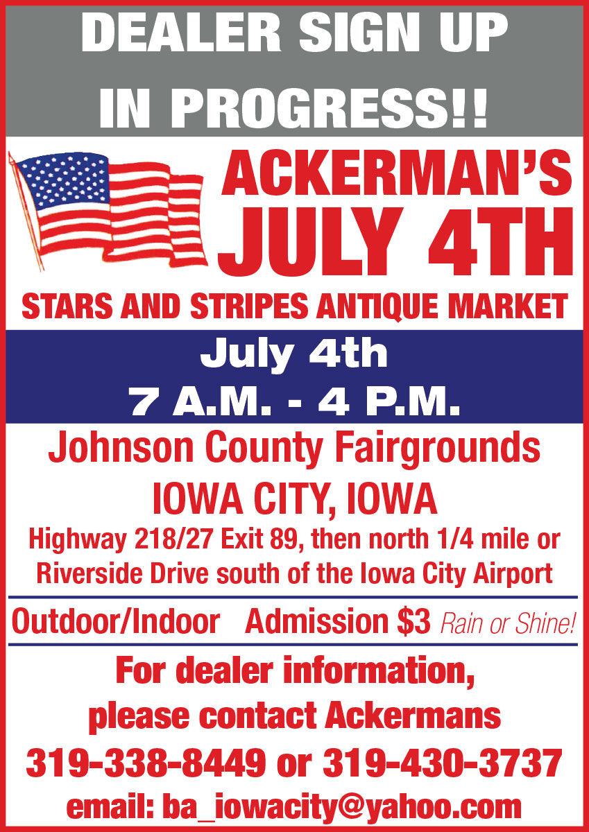 Ackerman's July 4th Stars & Stripes Antique Market