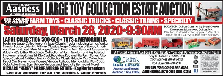 Farm toys, classic trucks, classic trains