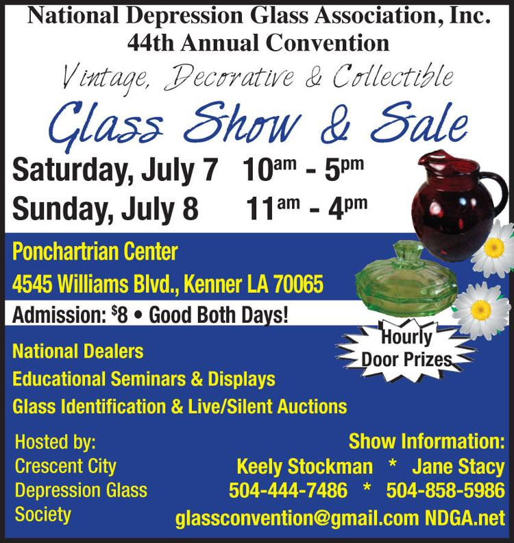 National Depression Glass Association Inc., 44th Annual Convention.   Vintage decorative collectible glass show and sale