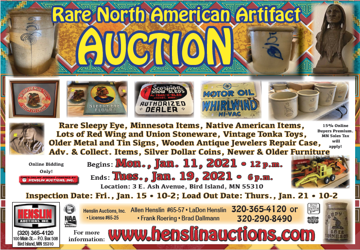 Henslin Auction ONLINE ONLY