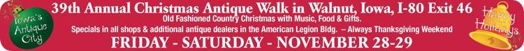 39th Annual Christmas Antique Walk in Walnut, IA