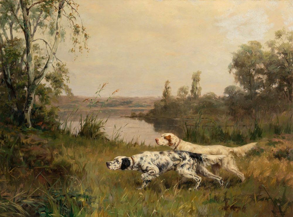 Collectors love dog paintings and photos