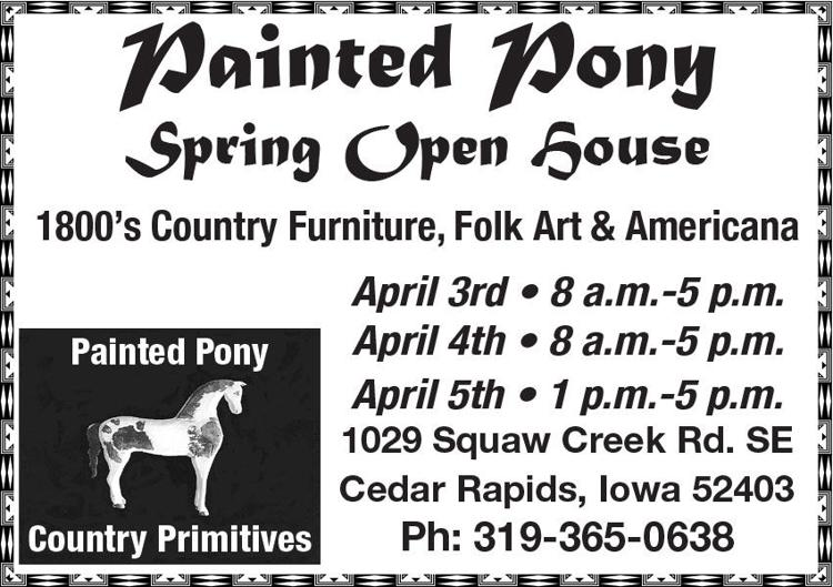 Pony Spring Open House. 1800's country furniture, folk art, americana