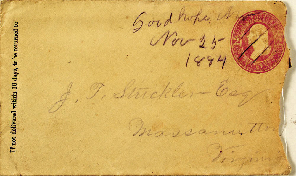 Postal history cover envelope and stamp from