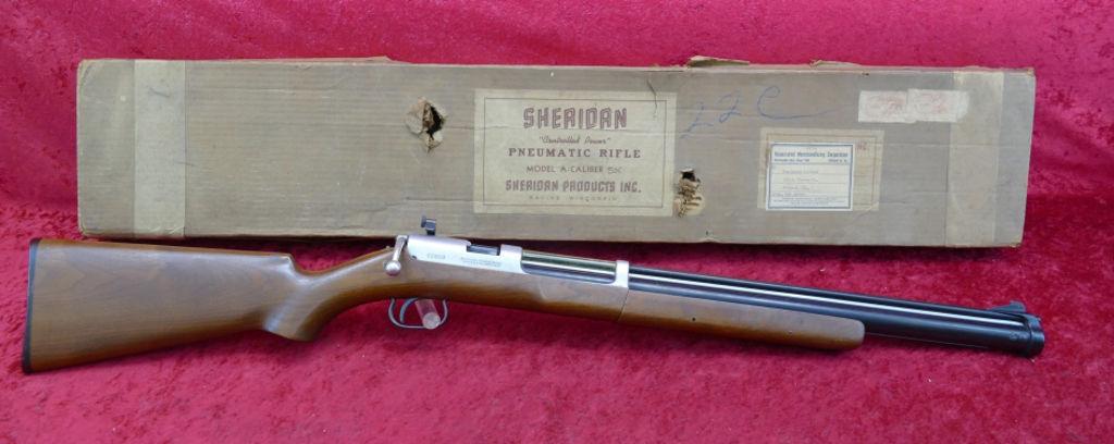 1953 Sheridan Model A Pellet Rifle and Box.jpg