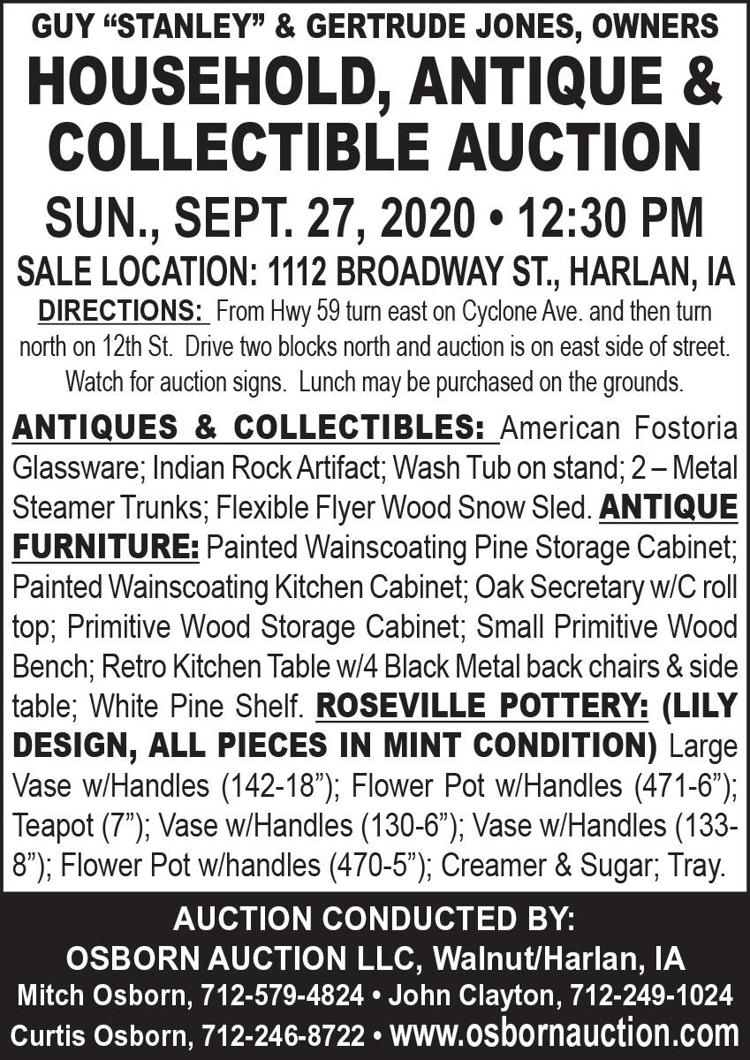 Antique Furniture, Roseville Pottery, Collectibles & more