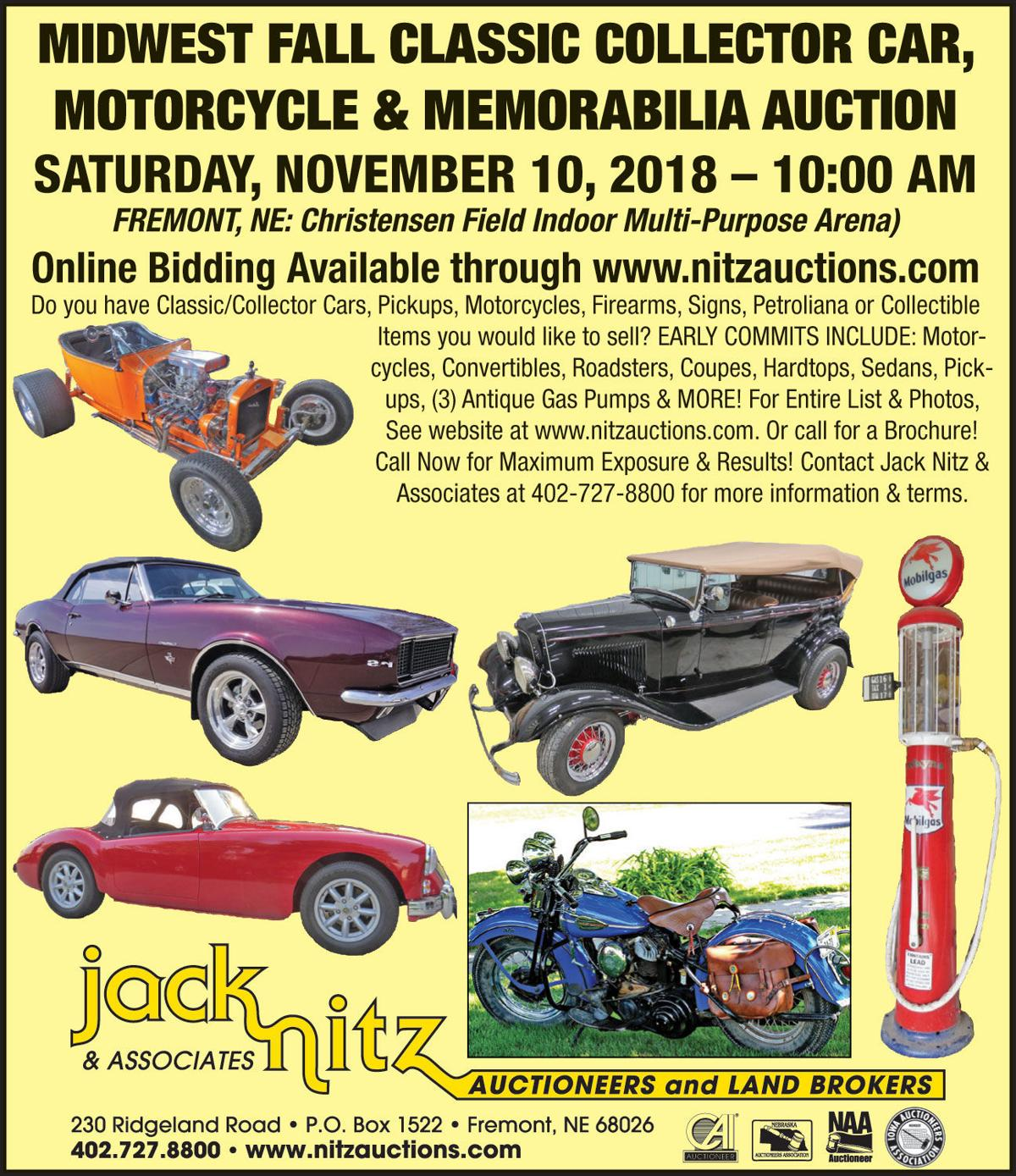 Midwest Fall classic collector car, motorcycle & memorabilia auction