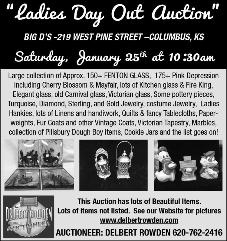 """Ladies Day Out Auction"" Fenton glass, depression glass, jewelry, sterling silver, vintage, victorian memoribilia"