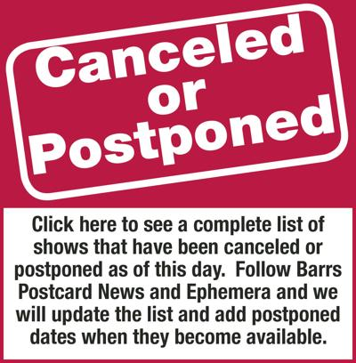 Canceled and postponed shows