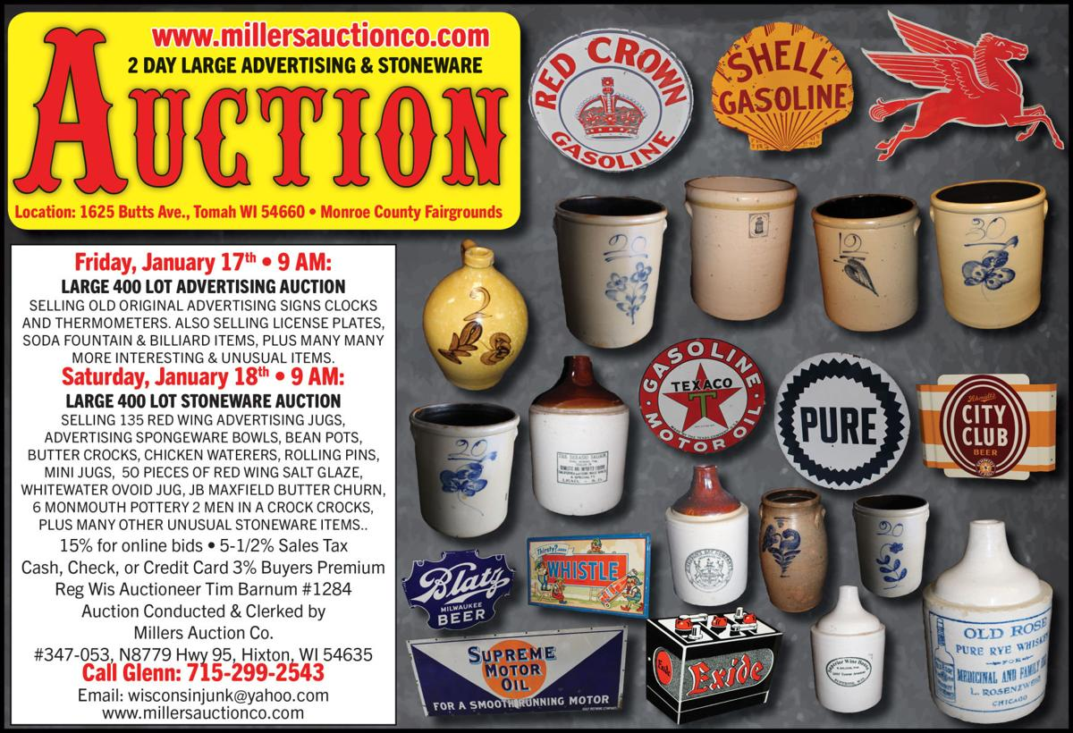 Large 400 lot Advertising Auction