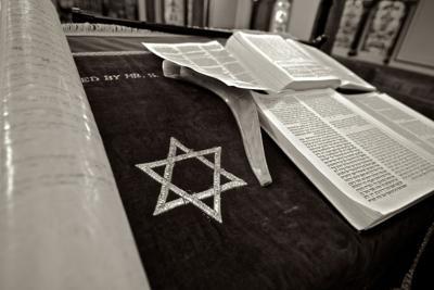 Jewish prayer stock image
