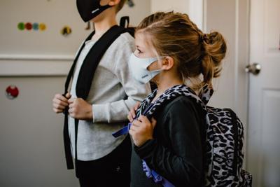 Stock coronavirus masks education student school