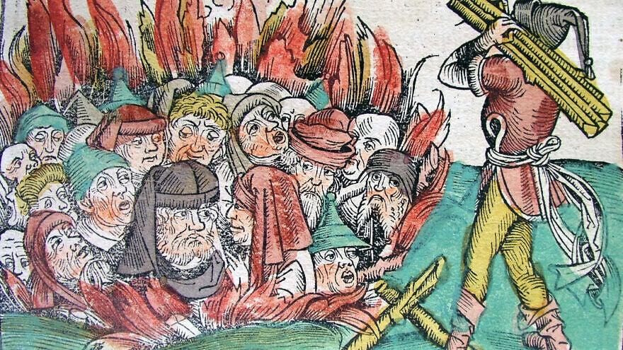 """burning of the Jews"""