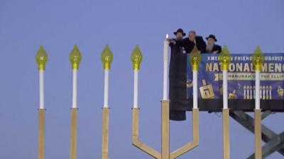 National Menorah on the Ellipse near the White House