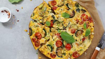 Pashtida with zucchini, corn and tomatoes: A colorful celebration of summer produce
