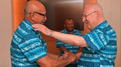 Israel's president meets with Pacific island leaders in Fiji