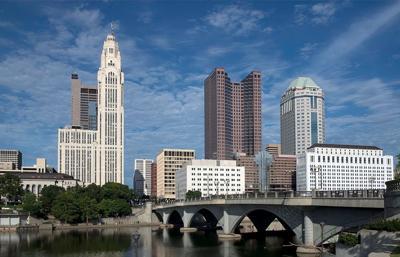 stock Columbus skyline