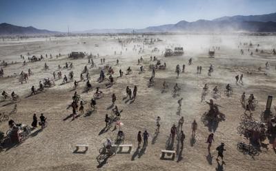 stock Burning Man