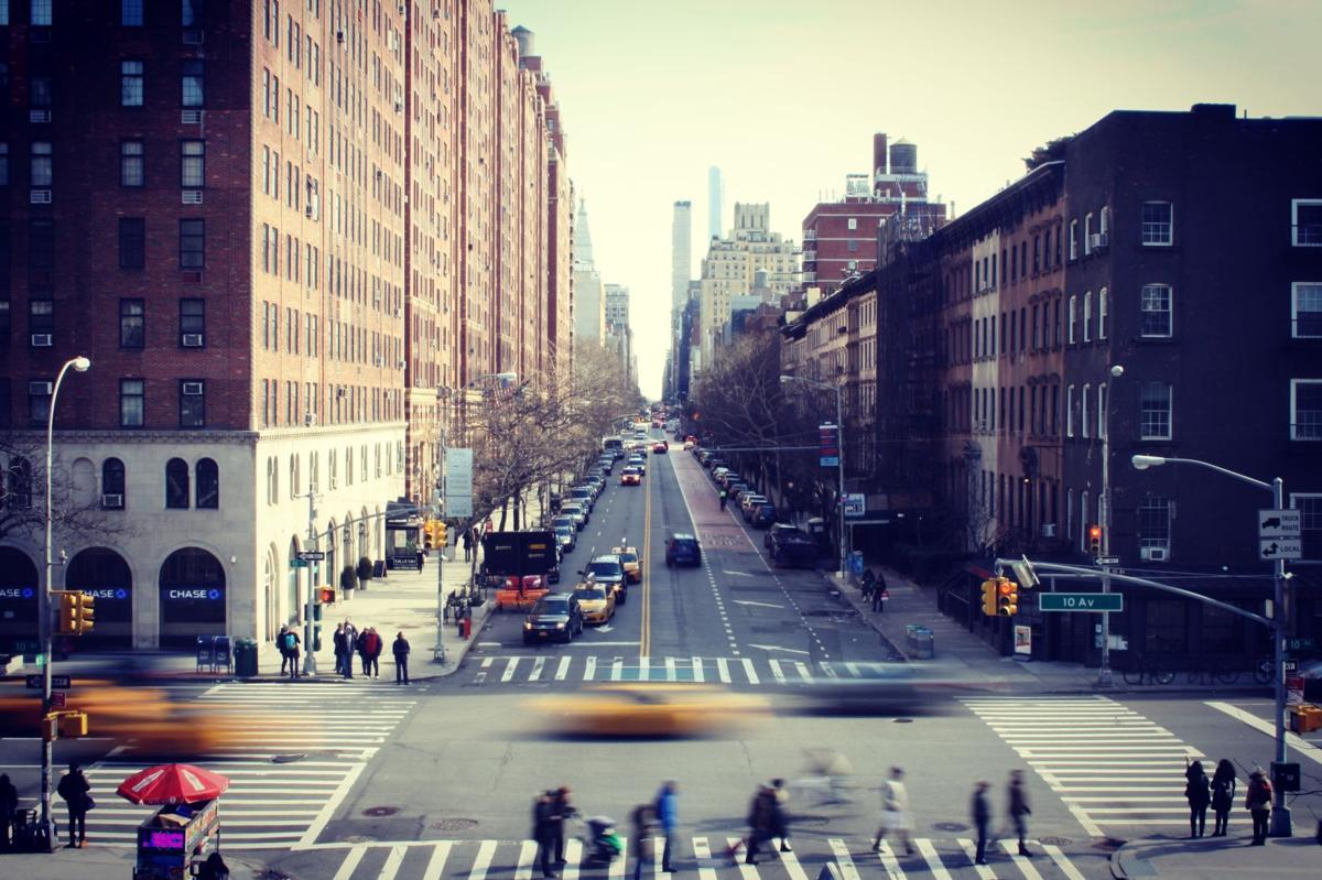 Stock city street