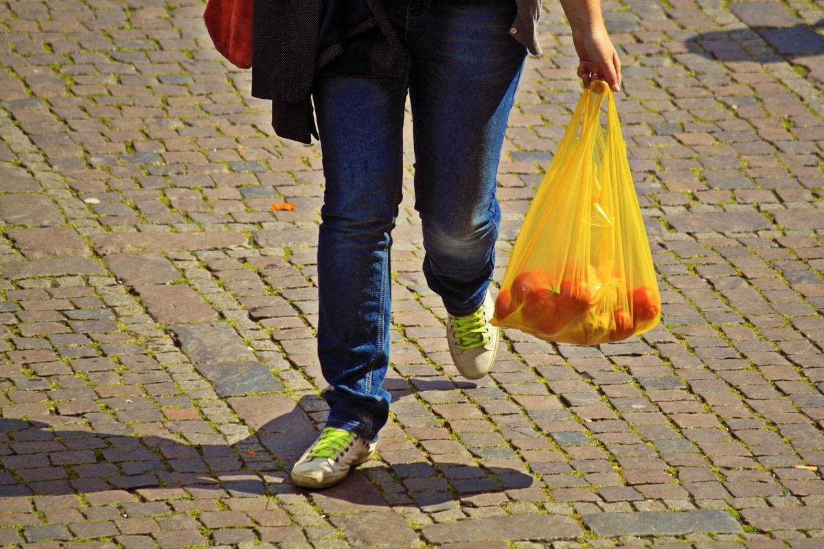 Stock plastic bag