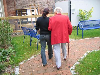 stock senior walking