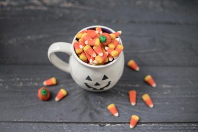 stock Halloween candy