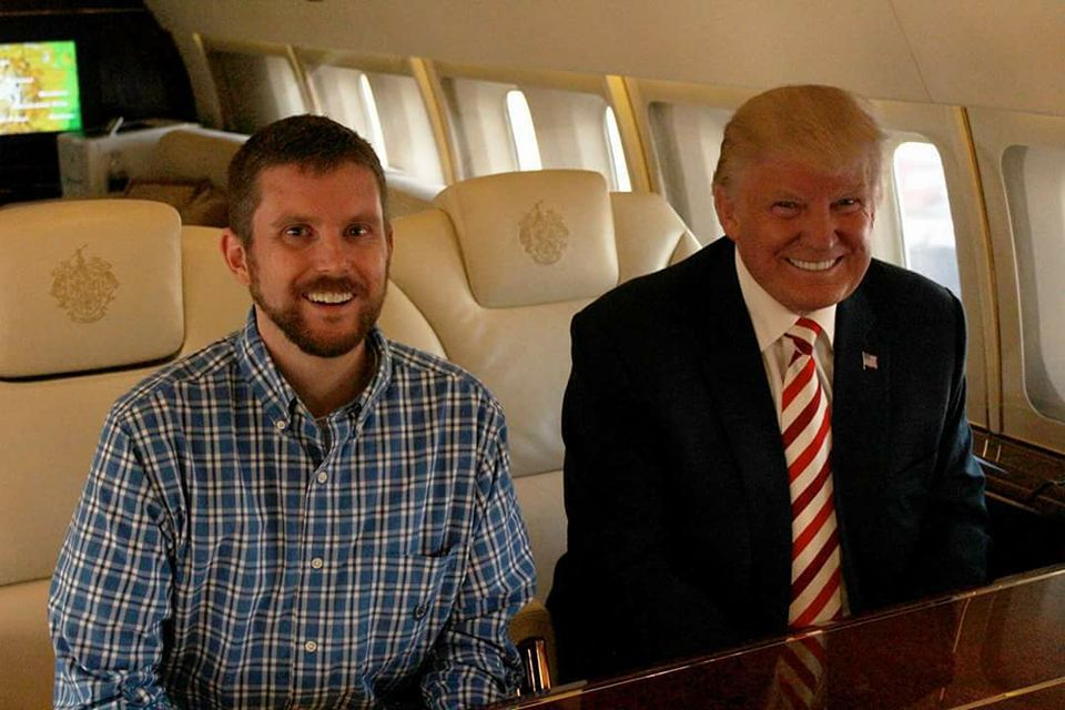 Aboard Air Trump