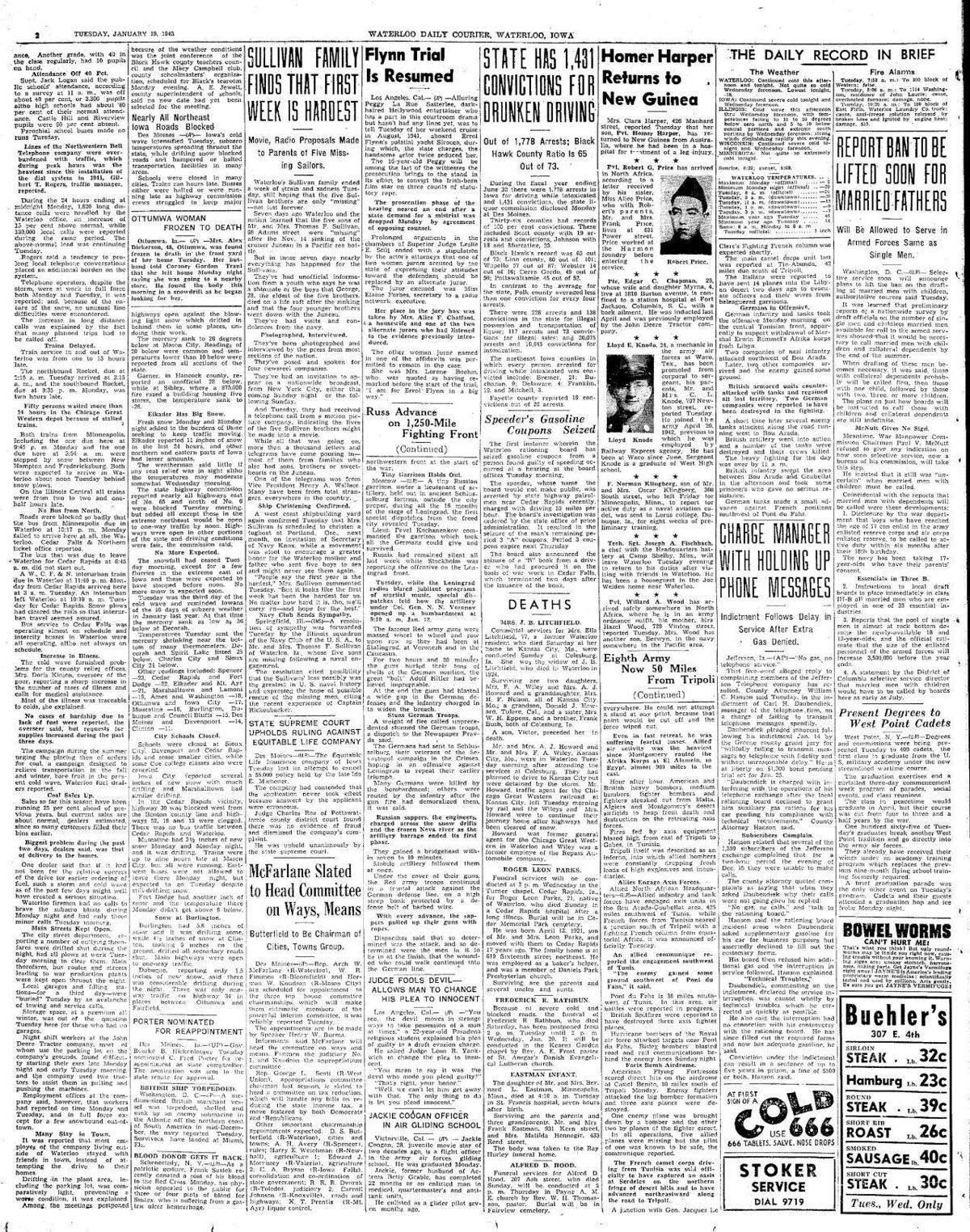 Courier Jan. 19, 1943