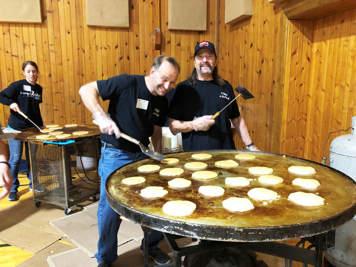 Pancake Feed cooking