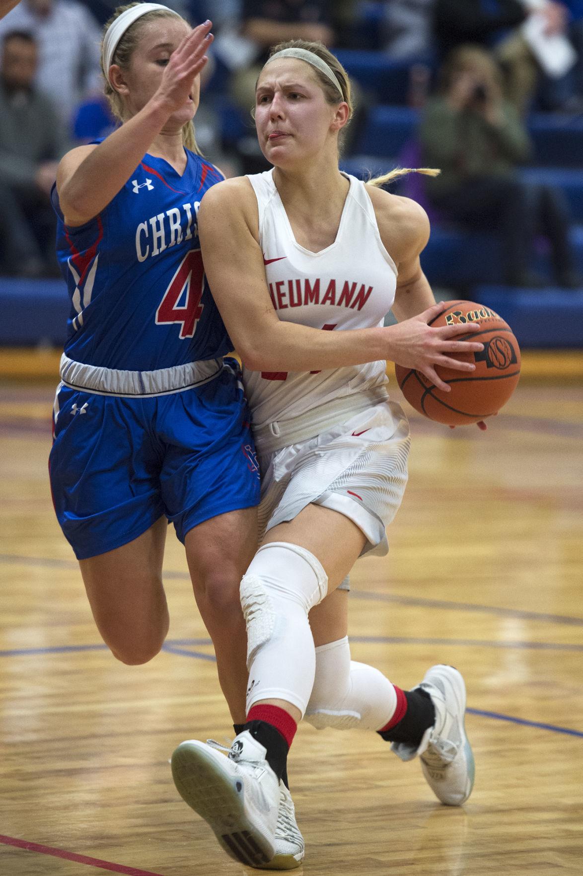 Lincoln Christian vs. Neumann, Centennial Conference girls semifinals, 1/25/18