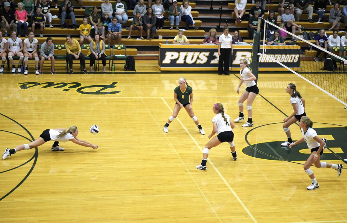 Southwest vs. Pius X, prep volleyball, 9/5/17