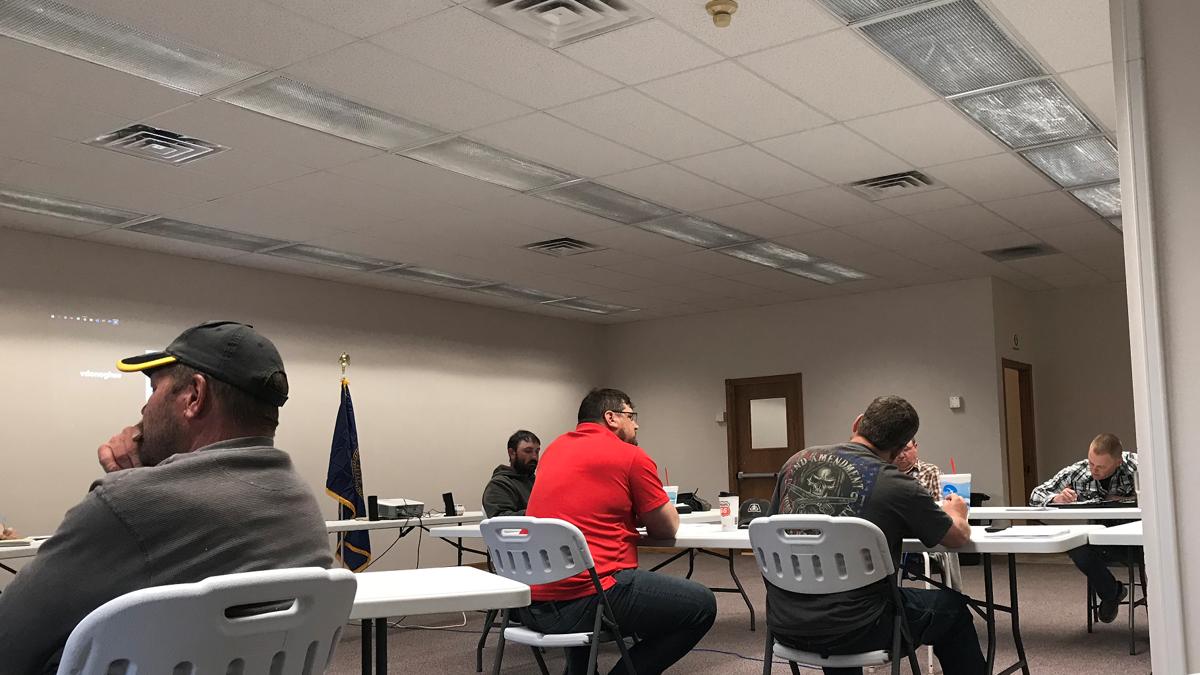 Isham at Butler County Board meeting
