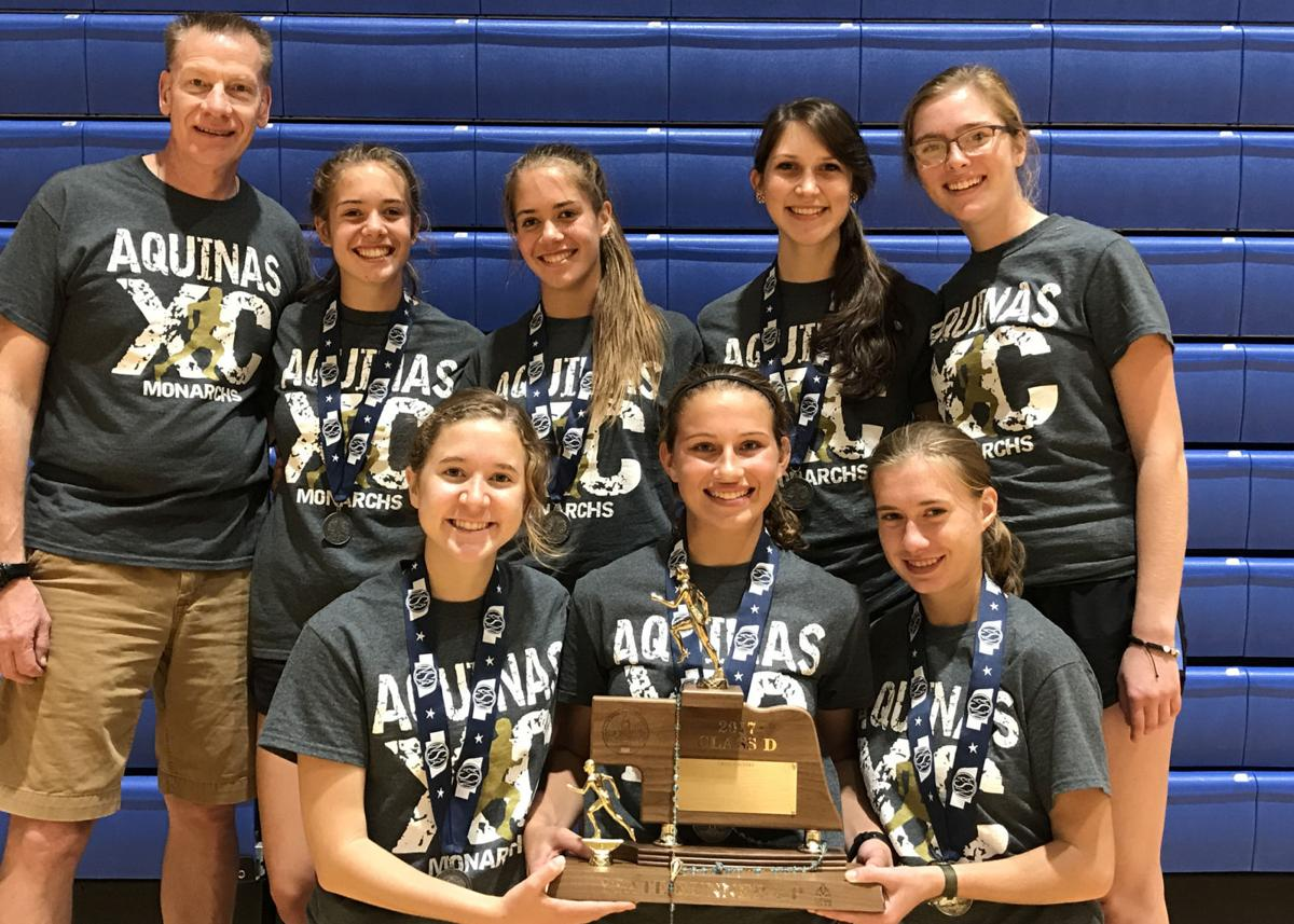Aquinas girls cross country team  State Runners-up