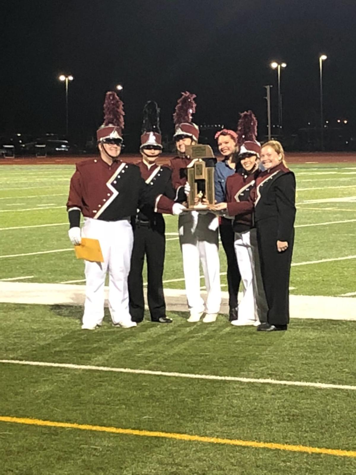 The Discoverers' Marching Band at 2018 state competition