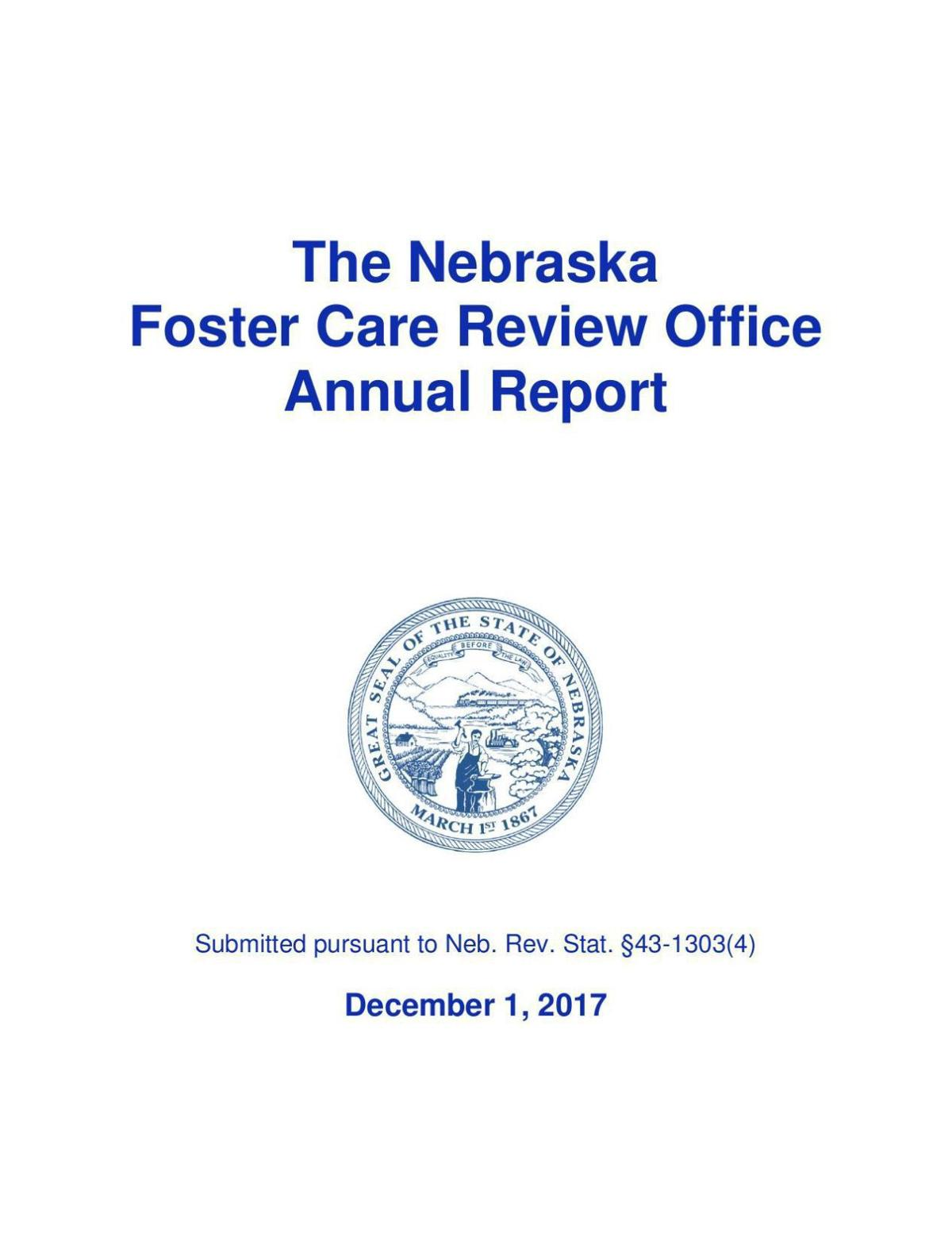 Nebraska Foster Care Review Office Annual Report
