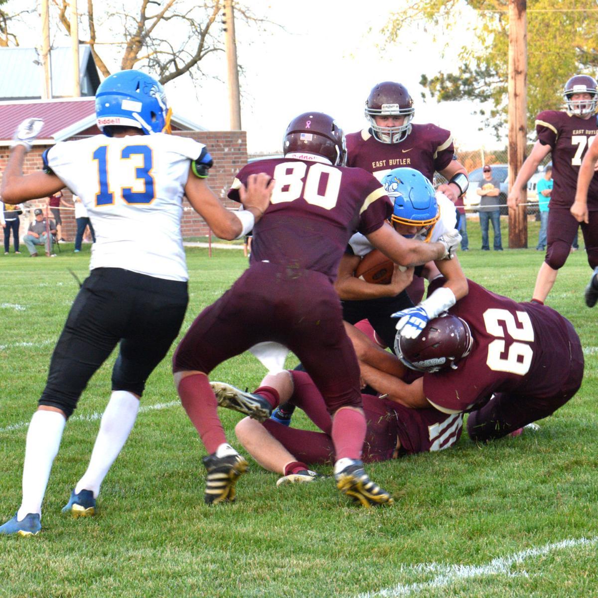 East Butler tacklers