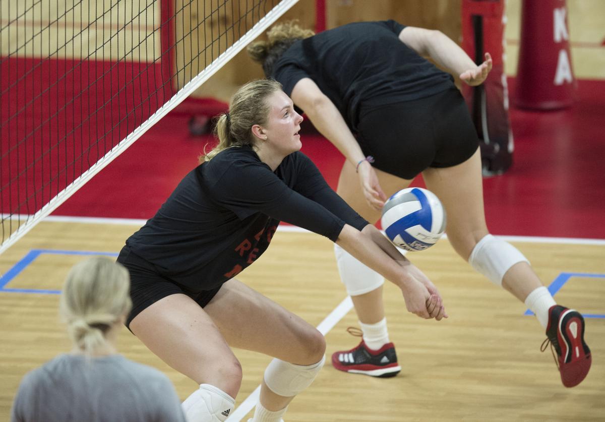 Nebraska Volleyball Practice, 8.10