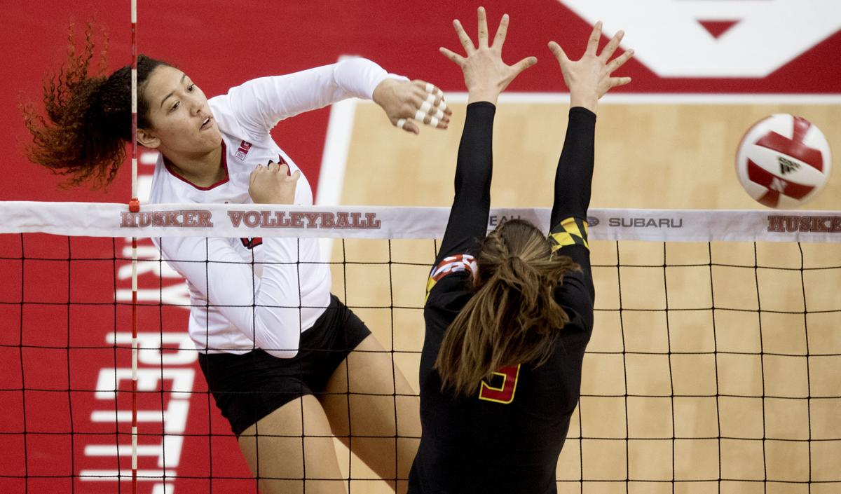 Maryland vs. Nebraska volleyball, 11/8/17