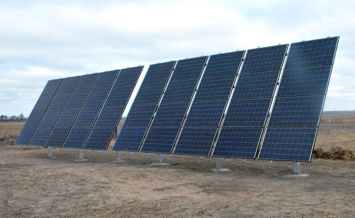Erstwhile Farm solar panels